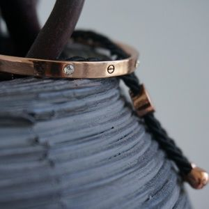 handmade Jewelry - Rose Gold Plated Hand Crafted Screw Bracelet